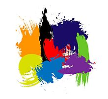 Brush Strokes Photographic Print