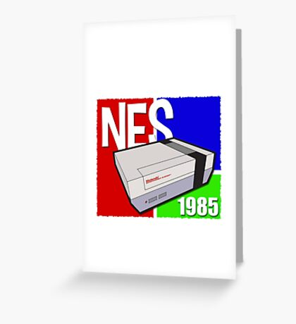 "Nintendo "" NES "" / Fun since 1985 Greeting Card"