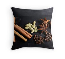 Aromatic Spice Mixture Throw Pillow