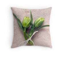 Two Tulips Tied Together Throw Pillow