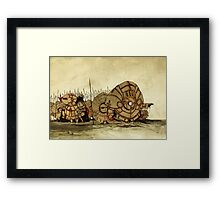 Humpty Dumpty's knights Framed Print