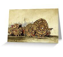Humpty Dumpty's knights Greeting Card