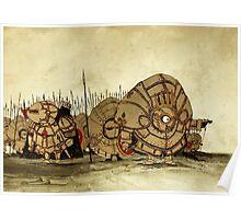 Humpty Dumpty's knights Poster