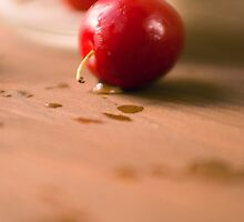 Cherry on Wood by SpicieFoodie