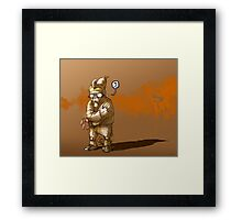 The Unpainting Rabbit Framed Print