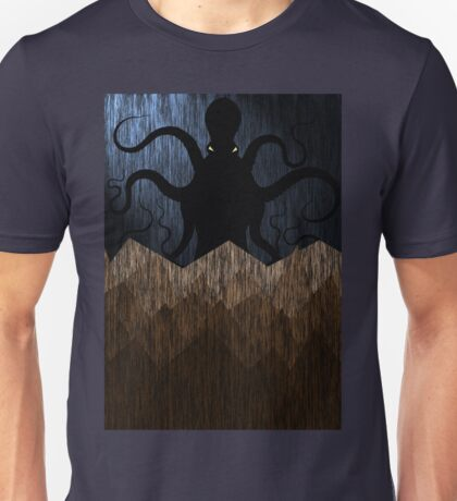 Cthulhu's mountains of madness - blue Unisex T-Shirt
