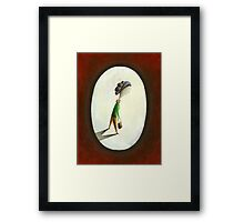 Madame - Woman with Purse Framed Print