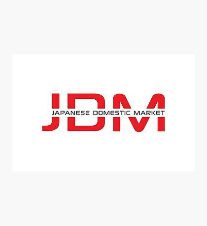 JDM Japanese Domestic Market (light background) Photographic Print