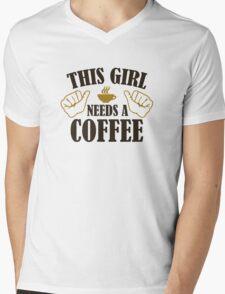 This Girl Needs A Coffee Mens V-Neck T-Shirt