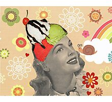 She Loved Ice Cream! Photographic Print