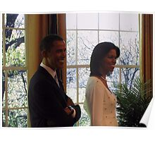 President Barack Obama and First Lady Michelle Obama  Poster