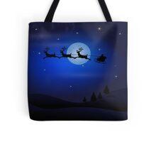 Santa's Night Ride Tote Bag