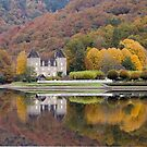 Rich Fall Colors Reflected... Chateau de Gibanel by A.M. Ruttle