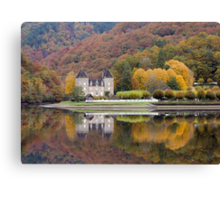 Rich Fall Colors Reflected... Chateau de Gibanel Canvas Print