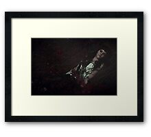 Gothic sleeping Beauty Framed Print