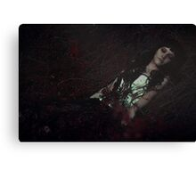 Gothic sleeping Beauty Canvas Print