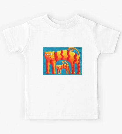 Curved Cats Kids Tee