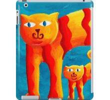Curved Cats iPad Case/Skin