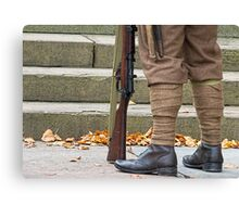 Off to the great war Canvas Print