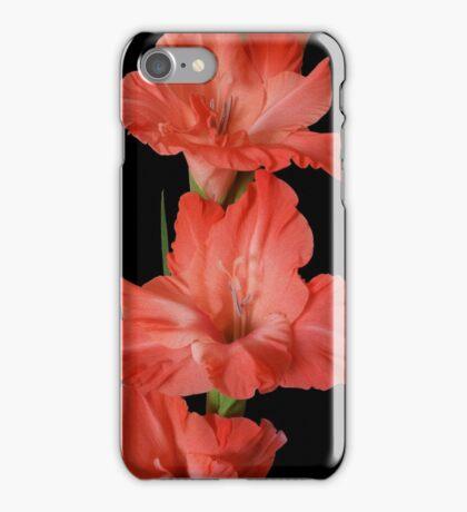 a pink gladiola iPhone Case/Skin