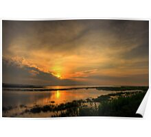 Salt Marsh Sunrise Poster