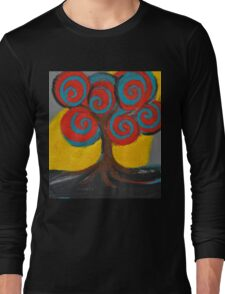 Recovery Tree ~ print of oil pastel portrait Long Sleeve T-Shirt