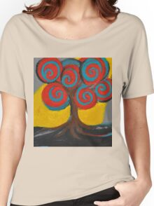 Recovery Tree ~ print of oil pastel portrait Women's Relaxed Fit T-Shirt