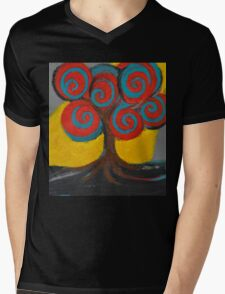 Recovery Tree ~ print of oil pastel portrait Mens V-Neck T-Shirt