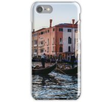 Impressions of Venice - Glossy Water Gondolas on the Grand Canal iPhone Case/Skin
