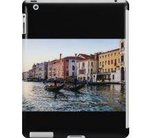 Impressions of Venice - Glossy Water Gondolas on the Grand Canal iPad Case/Skin