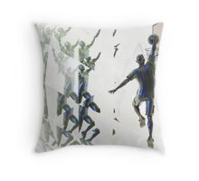 Light bending refraction basketball Throw Pillow