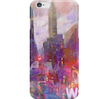 Snowstorm on the city iPhone Case/Skin