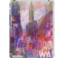 Snowstorm on the city iPad Case/Skin