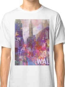 Snowstorm on the city Classic T-Shirt