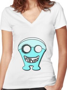 UltraViolent Women's Fitted V-Neck T-Shirt