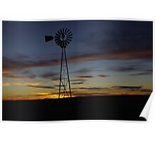 Sunset over the Plains Poster