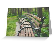 Garden Benches Greeting Card