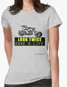 LOOK TWICE SAVE A LIFE Womens Fitted T-Shirt