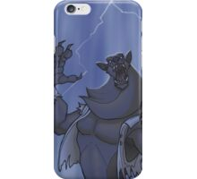 Badass Werewolf Roaring In Lightning iPhone Case/Skin