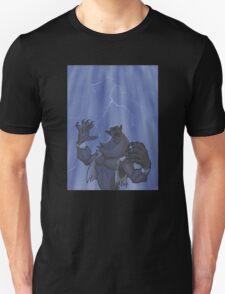 Badass Werewolf Roaring In Lightning Unisex T-Shirt