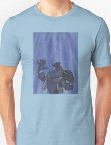 Badass Werewolf Roaring In Lightning T-Shirt