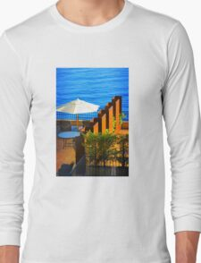 Sea Balcony View at sunset in Côte d'Azur, FRANCE Long Sleeve T-Shirt
