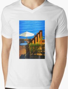 Sea Balcony View at sunset in Côte d'Azur, FRANCE Mens V-Neck T-Shirt