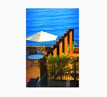 Sea Balcony View at sunset in Côte d'Azur, FRANCE Unisex T-Shirt