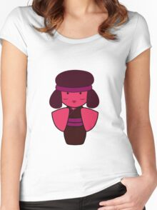 Ruby Kokeshi Doll Women's Fitted Scoop T-Shirt
