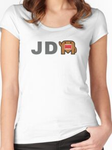 JDM Domo monster Women's Fitted Scoop T-Shirt