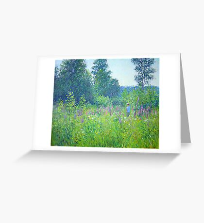 Alex in the field Greeting Card