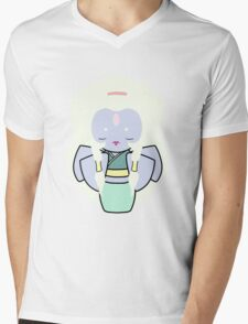 Opal Kokeshi Doll Mens V-Neck T-Shirt