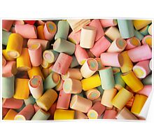 Marshmallows candy Poster