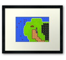 Gameboy Color Styled RPG Framed Print
